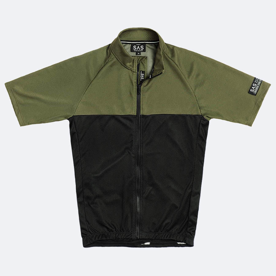 S1-A RIDING JERSEY (BLACK & SAGE)